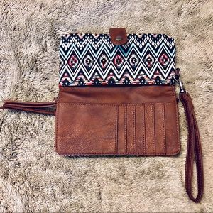 """Wallet with Two section Zippers 5""""x 7.5"""""""